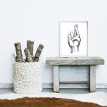 Poster Korsande fingrar