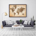 Poster Världskarta Antik