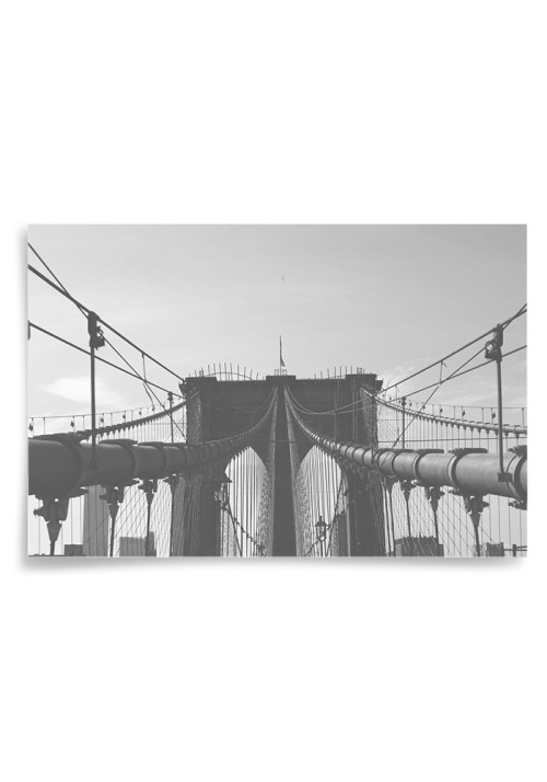 Poster Brooklyn Bridge Svartvit