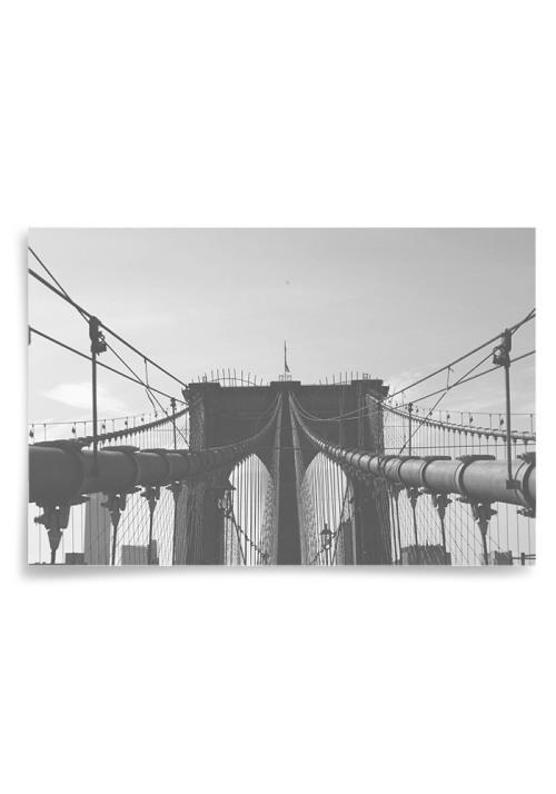 Poster Brooklyn Bridge Svartvit