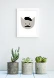 Poster Figur Mustasch