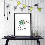 Poster Sköldpadda Målning