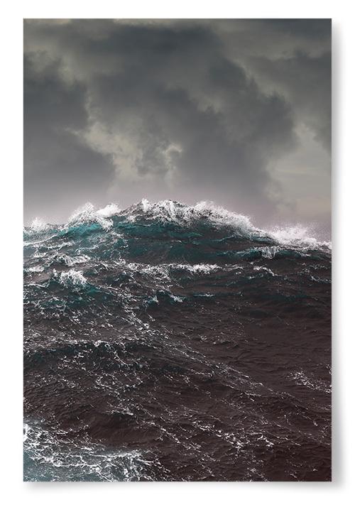 Poster Havsvåg Storm