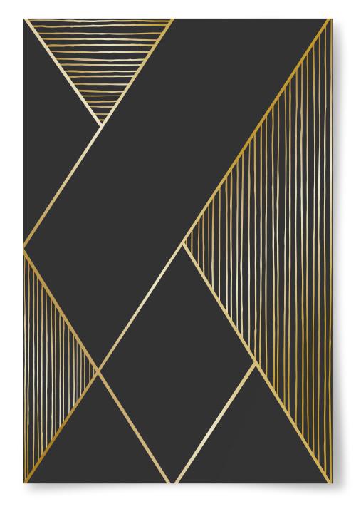 Poster Guldiga Linjer