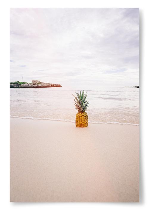 Poster Ananas Strandfoto