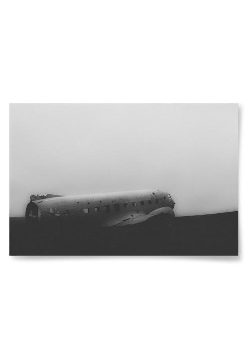 Poster Flygplansvrak Fotokonst