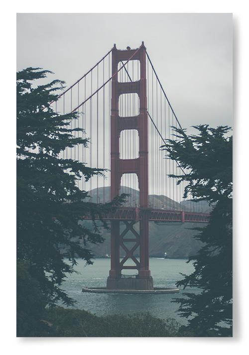 Poster Golden Gate Bridge Konstfoto