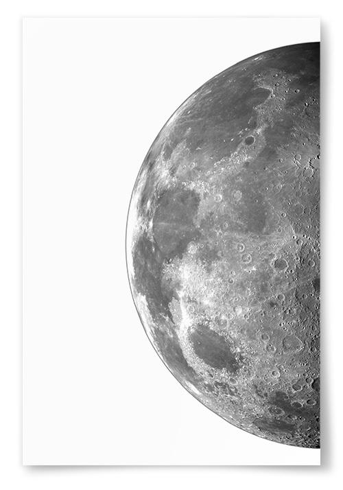 Poster Måne Halv