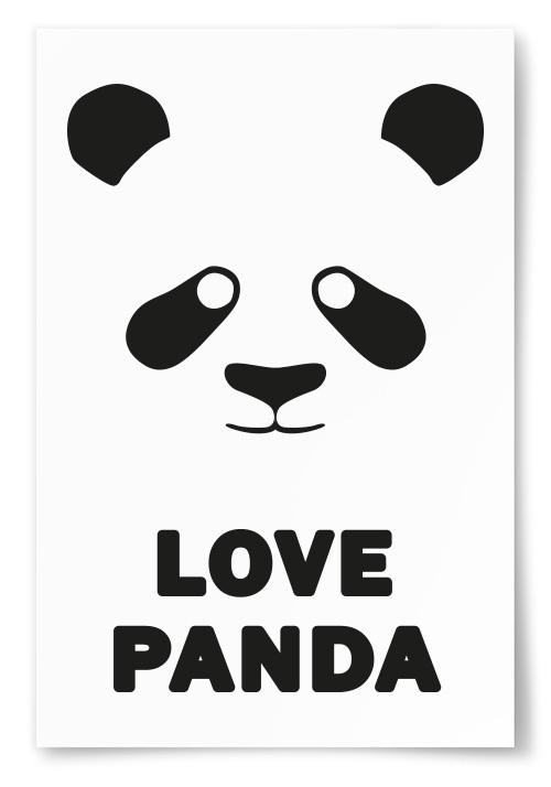 """Poster """"Love Panda"""""""