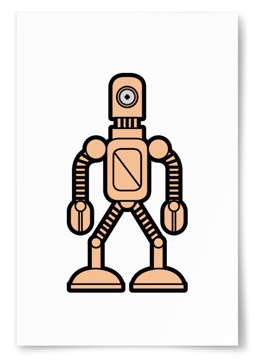 Poster Enögd Robot Rosa