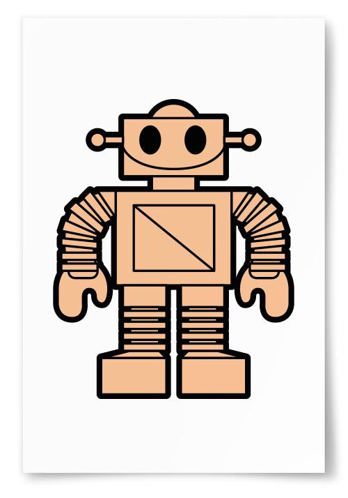 Poster Robot Rosa