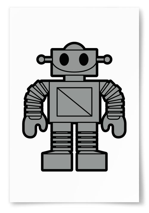 Poster Robot Grå