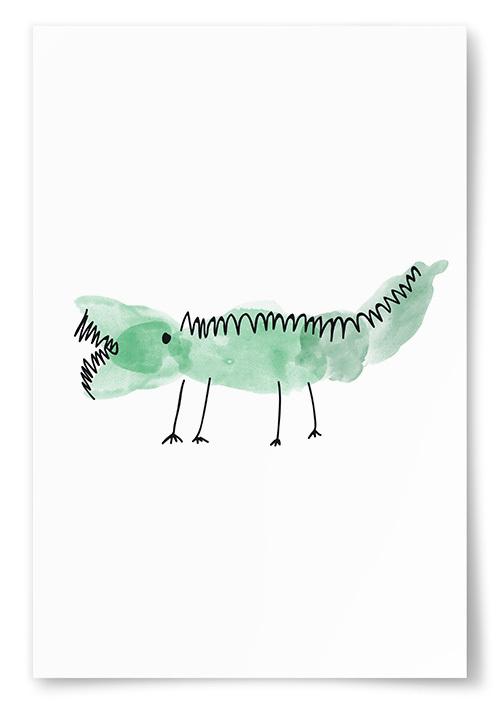 Poster Krokodil Målning