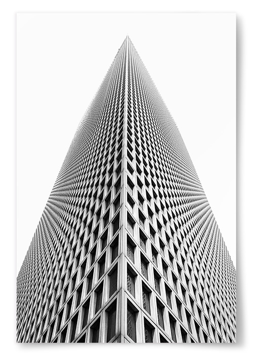Poster Svartvit Skyskrapa
