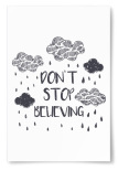 "Poster ""Don't Stop Believing"""