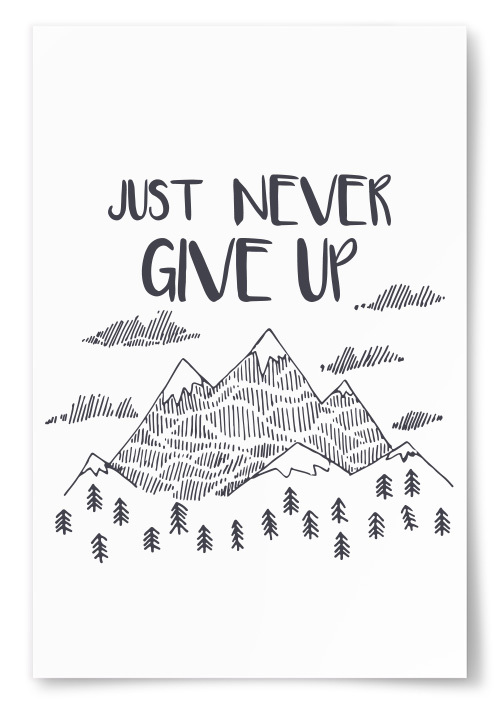"Poster ""Just Never Give Up"""