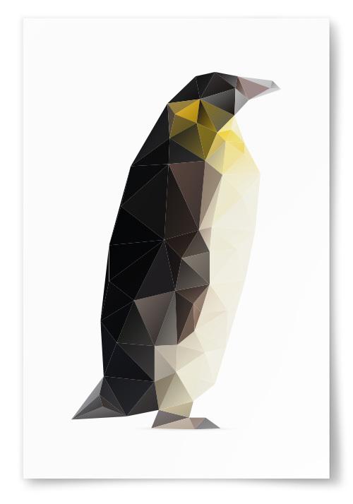 Poster Pingvin Polygon