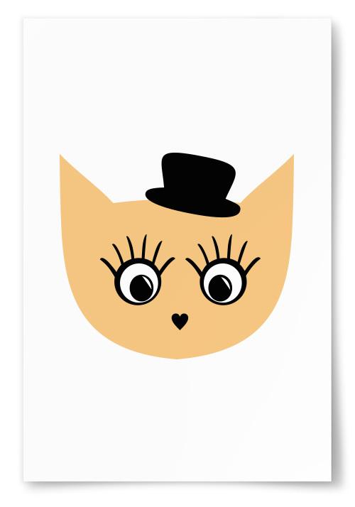 Poster Figur Hatt