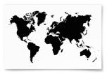 Poster Världskarta Svartvit