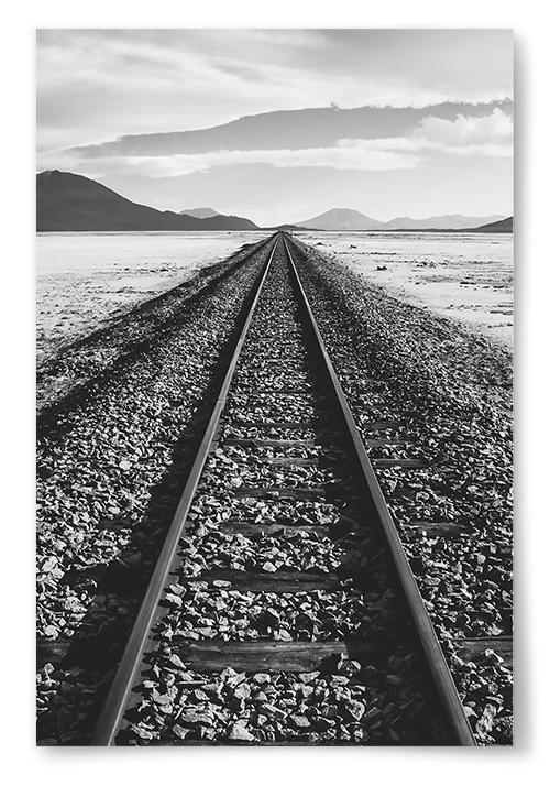 Poster Järnvägsräls