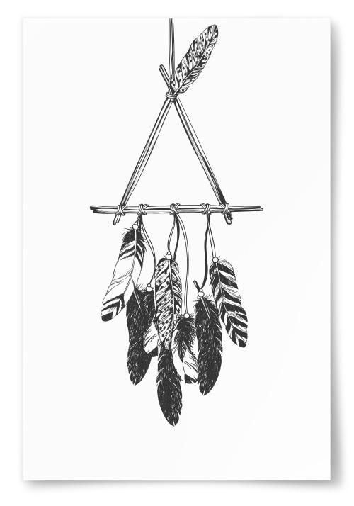 Poster Drömfångare Triangel