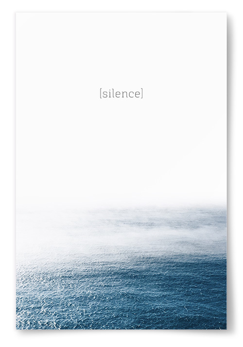 "Poster ""silence"""