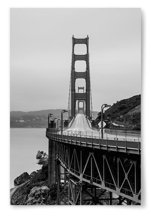 Poster Golden Gate Svartvit