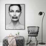 Poster Kvinna Fyrkantigt Läppstift