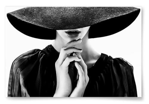 Poster Kvinna Med Hatt