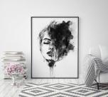 Poster Kvinna Målning