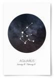 Poster Stjärntecken Vattumannen