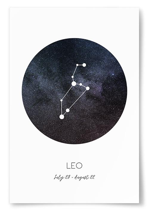 Poster Stjärntecken Lejonet