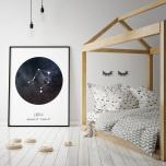 Poster Stjärntecken Vågen