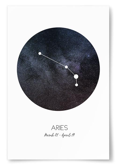 Poster Stjärntecken Väduren