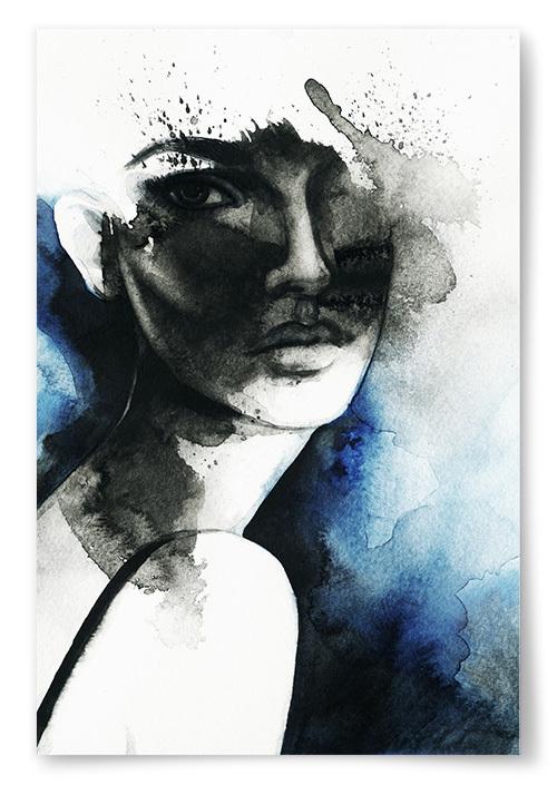 Poster Kvinna Konst