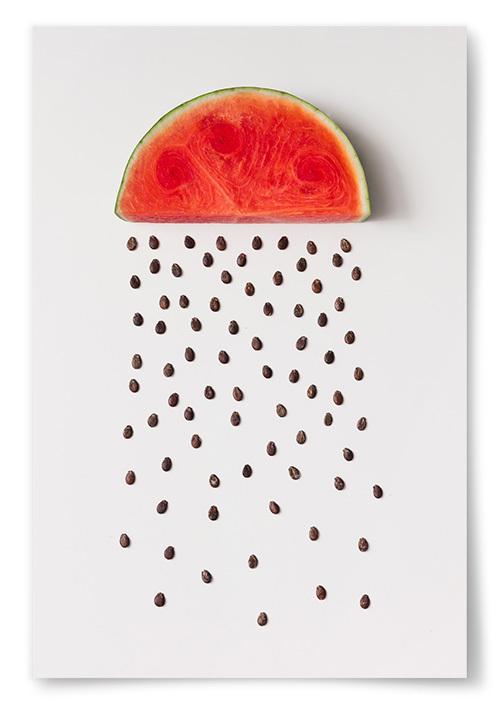 Poster Vattenmelon Kärnor Regnar