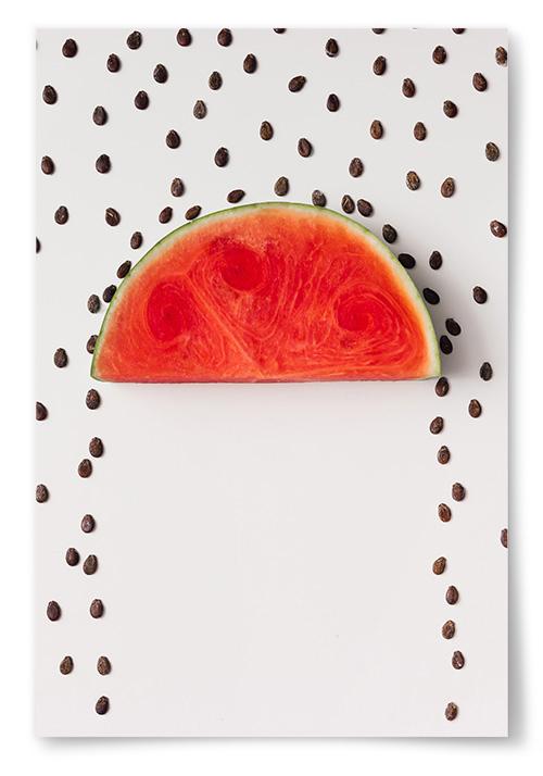 Poster Vattenmelonskärnor Regn