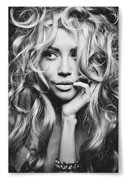 Poster Blond Kvinna