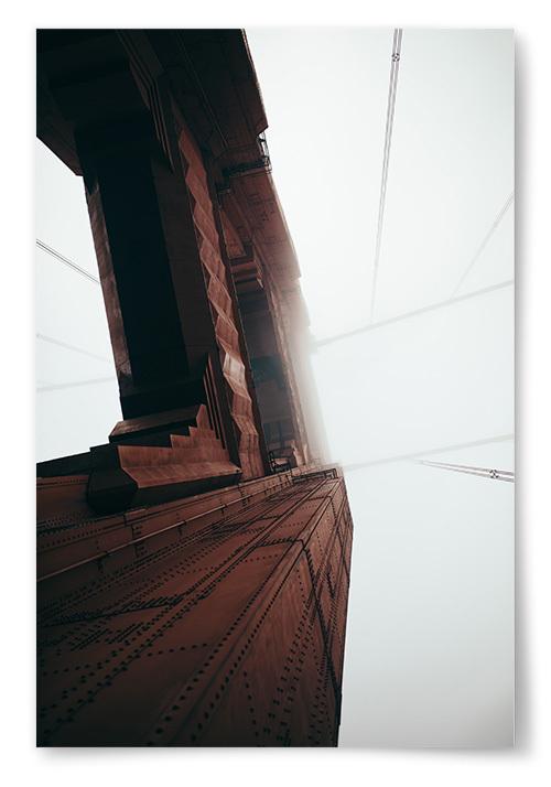 Poster Golden Gate Bridge Närbild