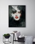 Poster Kvinna i Mörker