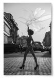 Poster Kvinna Med Ballonger