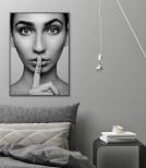 Poster Shhh... Svartvit