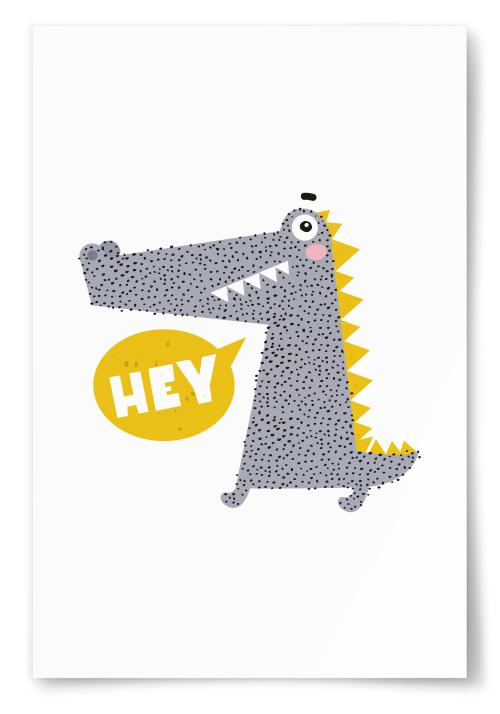 Poster Krokodil Hey