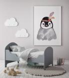 Poster Pingvin med Fjäder