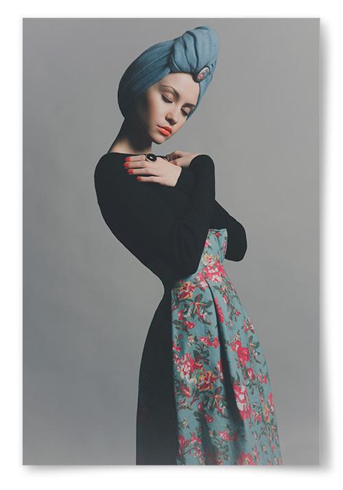 Poster Kvinna med Turban