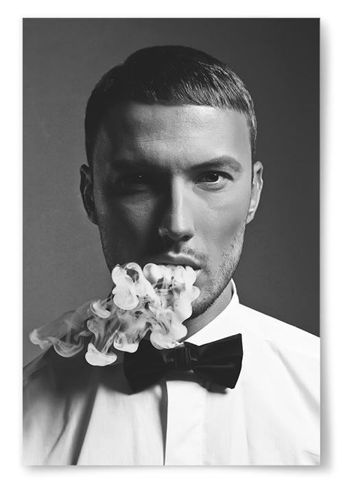 Poster Snygg Man Smoke