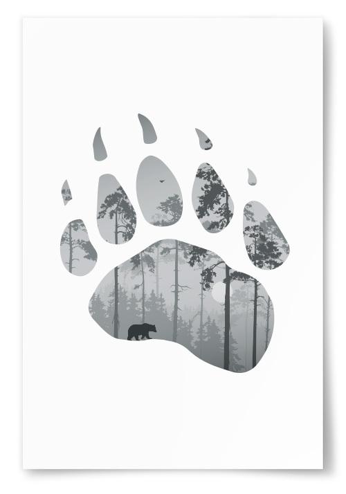 Poster Björntass Silhuett