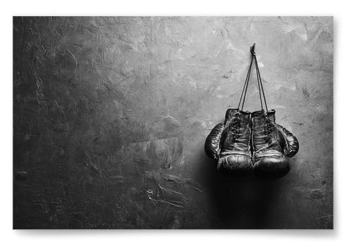 Poster Boxningshandskar Horisontell