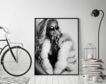 Poster Kvinna med Päls