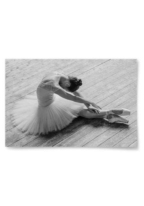 Poster Ballerina som Stretchar